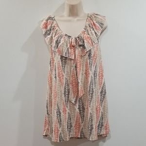 French laundry woman multi color blouse